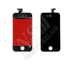 Дисплей APPLE iPhone 4S с черным тачскрином оригинал (TW)