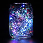 Гирлянда SNOWHOUSE 10м 100 минидиодов (LED) RGB, 12V, медная проволока, разноцветная