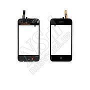 Тачскрин APPLE iPhone 3 с кнопкой Home, шлейфом и рамкой, черный