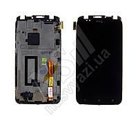 Дисплей HTC S720e One X с черным тачскрином и рамкой