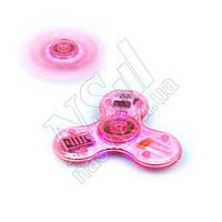 Спиннер светящийся музыкальный LED Bluetooth Music розовый