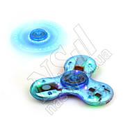 Спиннер светящийся музыкальный LED Bluetooth Music синий
