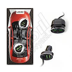 АЗУ USB LDNIO C502 5V 5.1A 4 Ports черный