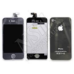 Дисплей APPLE iPhone 4 серебро комплект с тачскрином,задней крышкой Н/С