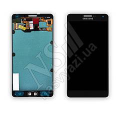 Дисплей SAMSUNG A700 Galaxy A7 (2015) (AMOLED) с черным тачскрином