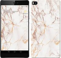 """Чехол на Huawei Ascend P8 Белый мрамор """"3847u-123-15248"""""""
