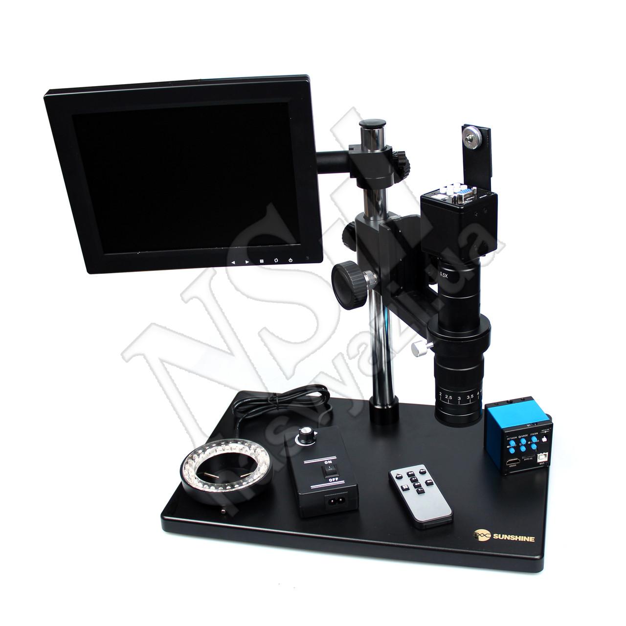 Микроскоп SUNSHINE MS10E-03 (с ЖК Экраном) цифровой, электронный, HDMI + подсветка