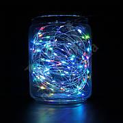 Гирлянда SNOWHOUSE USB 10м 100 минидиодов (LED) RGB, 5V, медная проволока, разноцветная