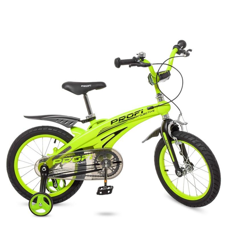 Детский двухколесный велосипед 2020 PROFI 16 дюймов зеленый Projective LMG16124