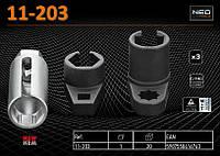 Набор  головок для лямбда-зонда 3шт,   NEO 11-203