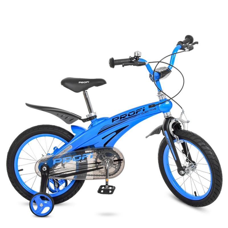 Детский двухколесный велосипед для мальчика PROFI 16 дюймов синий Projective LMG16125
