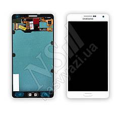 Дисплей SAMSUNG A700 Galaxy A7 (2015) (AMOLED) с белым тачскрином