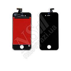 Дисплей APPLE iPhone 4 с черным тачскрином оригинал (TW)