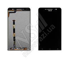Дисплей ASUS A600cg Zenfone 6 с черным тачскрином