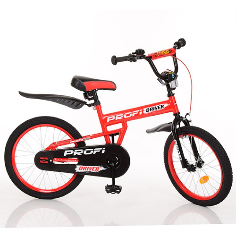 Детский двухколесный велосипед PROFI 20 дюймов Driver (крансый),L20112
