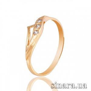 Золотое кольцо с цирконием 6318