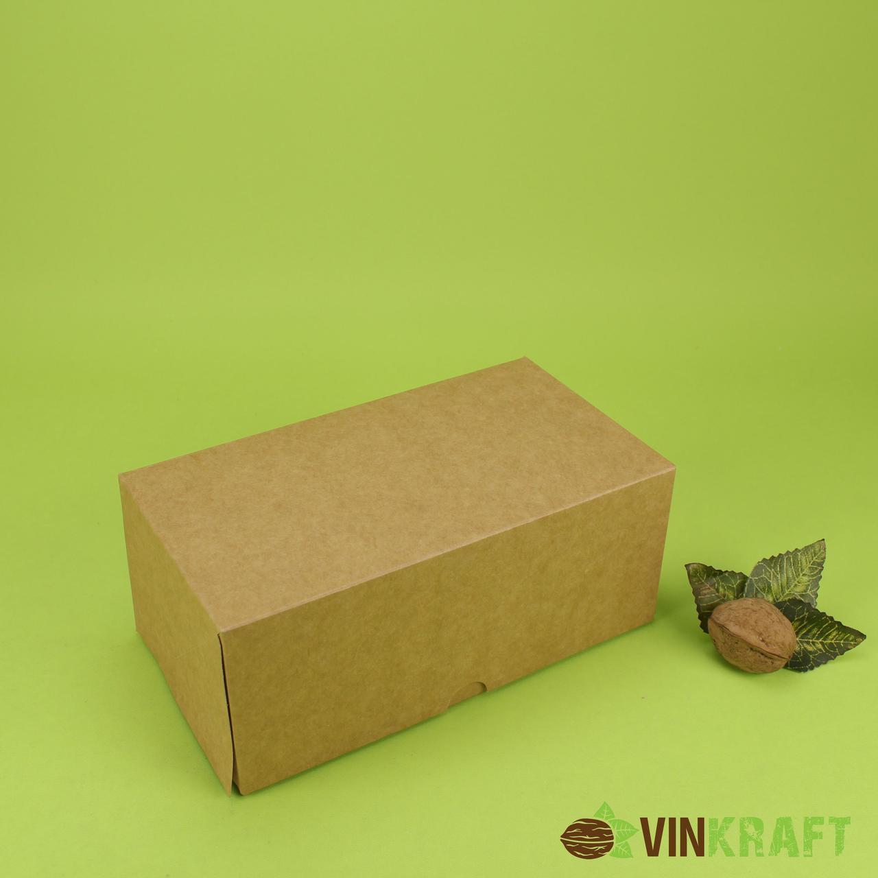Коробка 200*110*85 для капкейків (2 шт), крафт