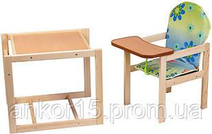 Дерев'яний дитячий стільчик трансформер, Вінні Пух