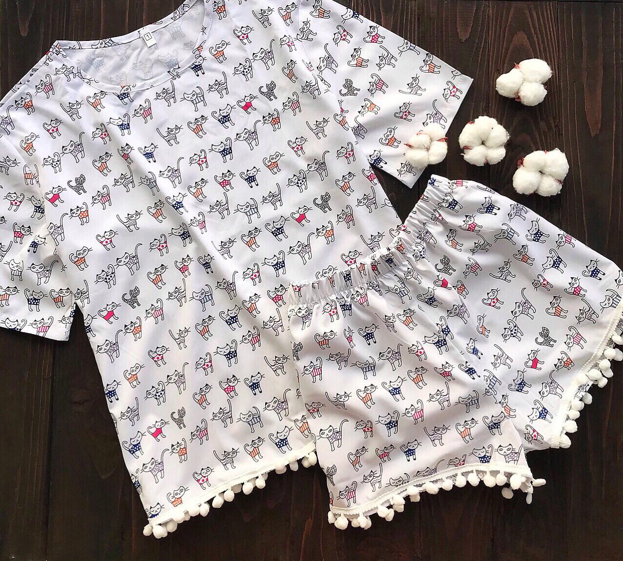 9c1b69191ada Пижама с бубонами S-M коты: продажа, цена в Одессе. пижамы женские ...