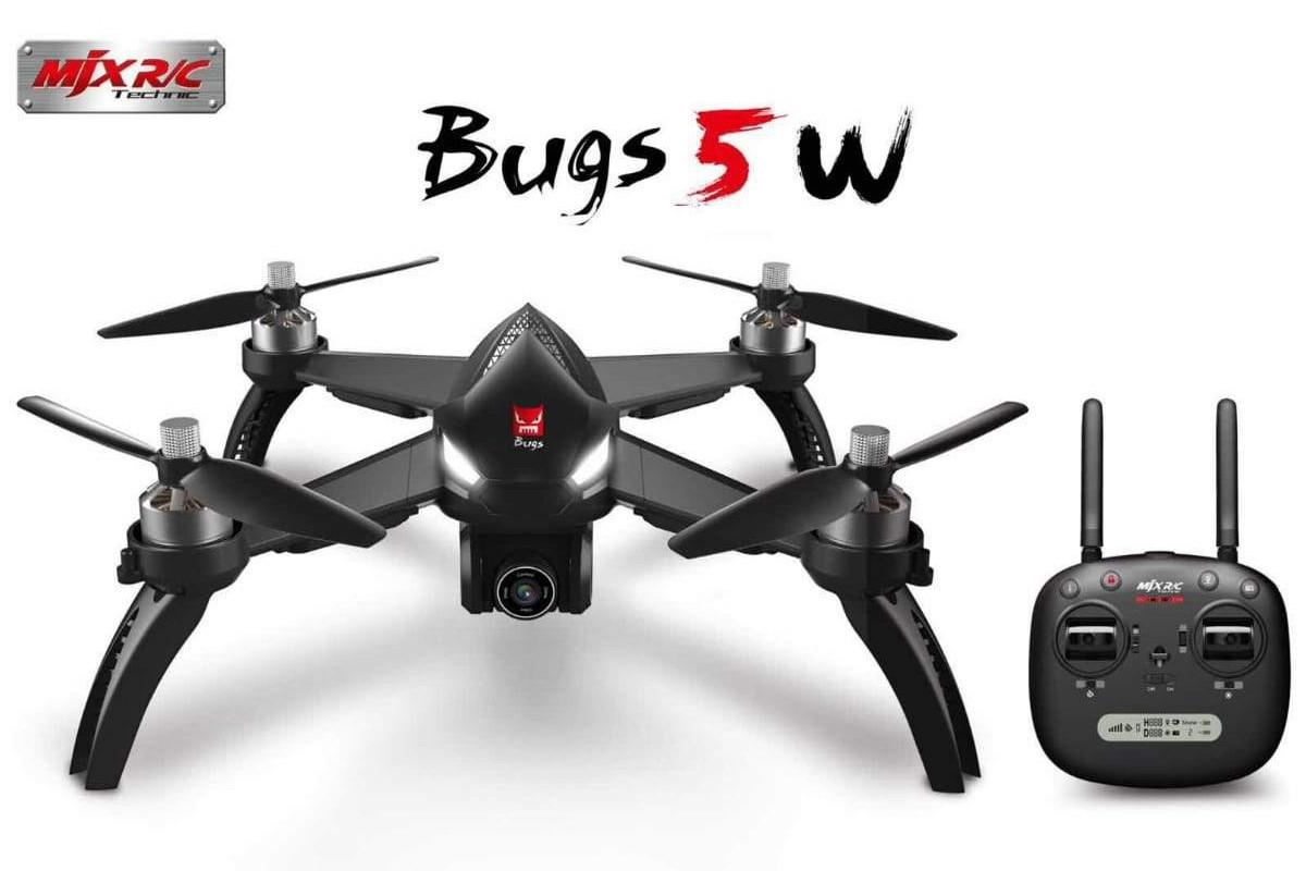 Квадрокоптер на радиоуправлении Mjx Bugs B5W бесколлекторный с камерой Wi-Fi