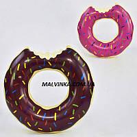 Круг для плавания  арт  29044  2 цвета , 70 см в пакете.