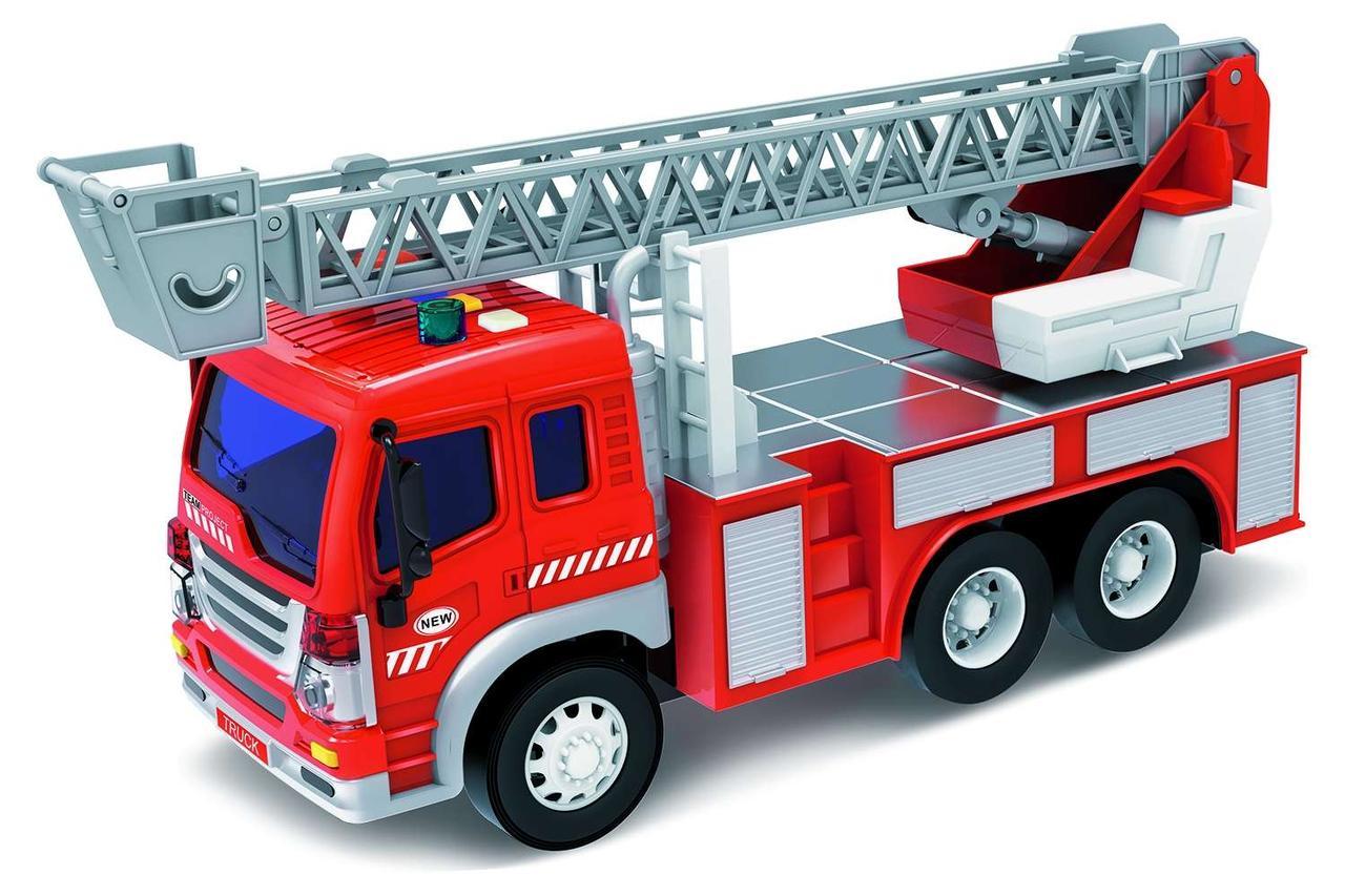Машинка инерционная 1к16 Wenyi Пожарная со звуком и светом