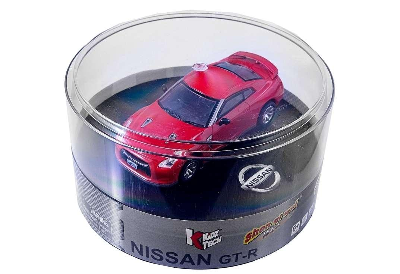 Машинка микро на радиоуправлении 1к43 лицензированный Nissan GT-R. красный