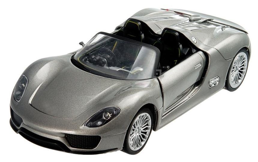 Машинка на радиоуправлении 1к24 Meizhi лицензированный Porsche 918 металлическая. серый