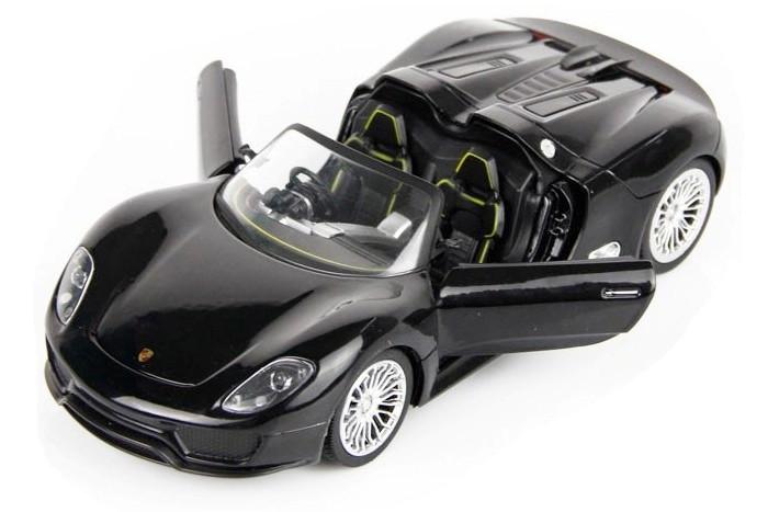 Машинка на радиоуправлении 1к24 Meizhi лицензированный Porsche 918 металлическая. черный