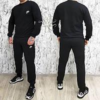Мужской спортивный костюм, чоловічий костюм Nike (черный), Replica
