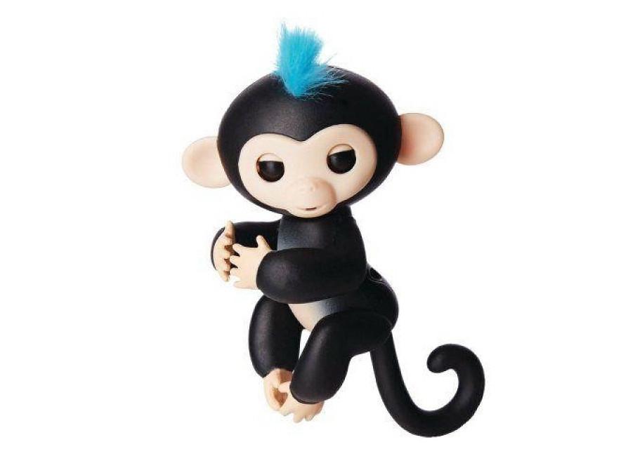 Ручная обезьянка на бат. Happy Monkey интерактивная. чёрный