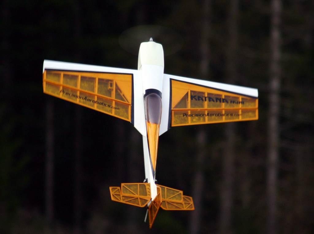 Самолёт на радиоуправлении Precision Aerobatics Katana Mini 1020мм KIT. желтый