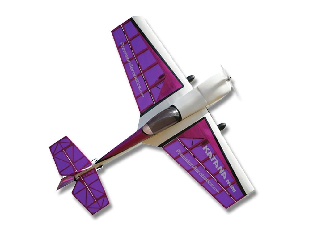 Самолёт на радиоуправлении Precision Aerobatics Katana Mini 1020мм KIT. фиолетовый