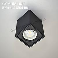 Гипсовый точечный светильник Gypsum Line - Bristol S1804 BK (чёрный, накладной) под лампу MR16, G5.3