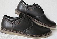 Tommy Hilfiger мужские черно коричневые кожаные мужские  casual туфли, фото 1