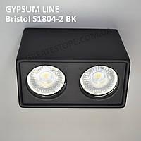 Гипсовый точечный светильник Gypsum Line - Bristol S1804-2 BK (чёрный, накладной) под лампу MR16, G5.3