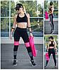"""Спортивні легінси, лосини для фітнесу модель """"Квадратики"""" рожеві!"""