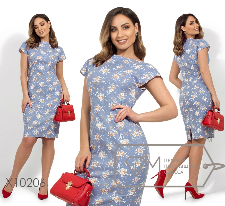 d7d939dcc0f Платье-футляр с цветочным принтом рукавами-крылышками раз. 48-54 ...