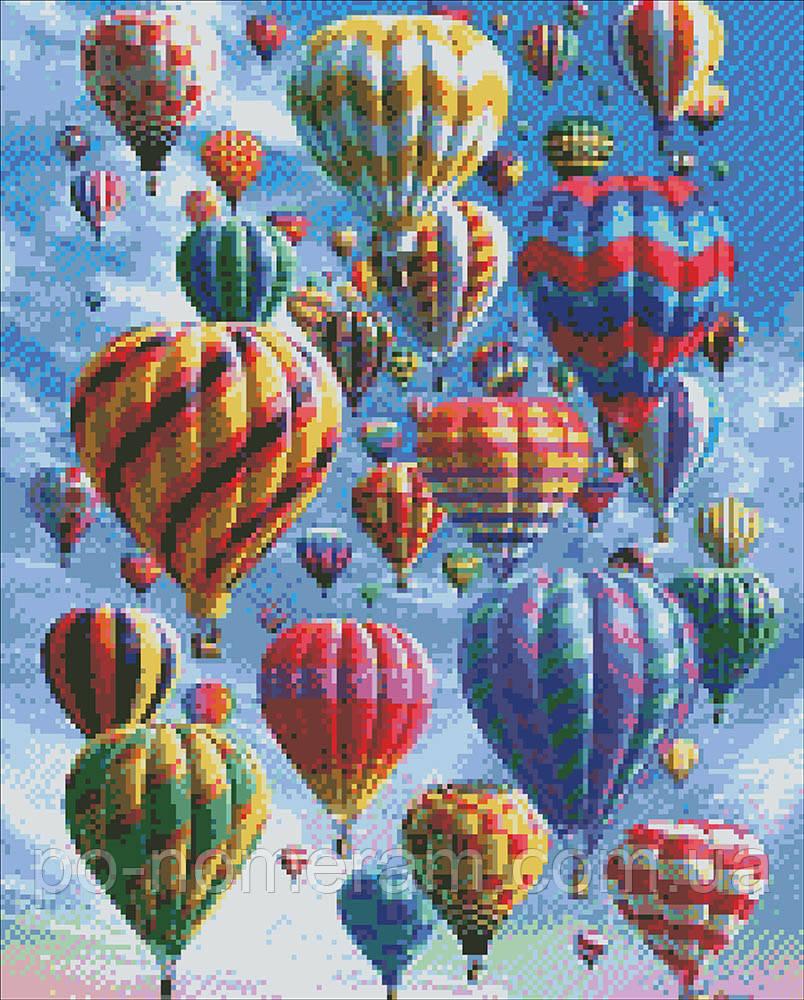Алмазная вышивка Идейка Воздушные шары (AM6010) 40 х 50 см (На подрамнике)