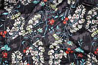 Ткань шелк армани на черном №531, фото 1