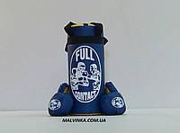 Боксерская груша +перчатки ,размер S ,цвет синий,красный арт 683/6149.