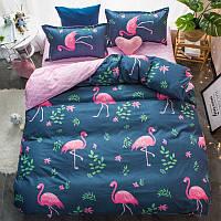 Комплект постельного белья двуспальный-евро Розовый фламинго Berni