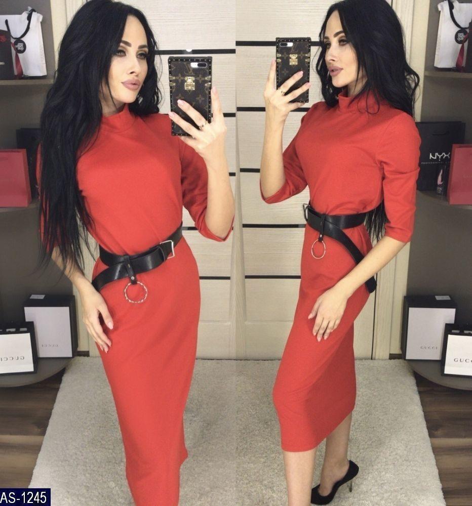 41049e8fccc Женское повседневное миди платье с рукавом три четверти