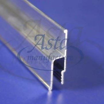 """Профиль ( багет) для установки натяжного потолка, алюминиевый стеновой """"h-образной"""" формы 2,5 м"""