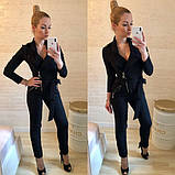 Комбинезон женский стильный штаны зауженные костюмка размеры:42,44,46,48, фото 3