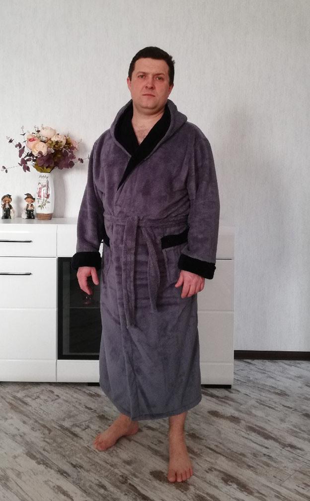 3b7e2346c228 Мужской халат с капюшоном купить в Харькове   101halat.com.ua 592733001