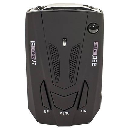 Антирадар Tilon V7 Black защита от детектирования цифровой дисплей радиус обнаружения 360 градусов, фото 2