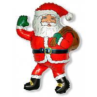 Фольгированный шар Санта Клаус с Мешком