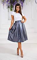 ЖІночий   костюм: блуза і юбка з напиленням .Р-ри  42-48
