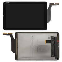 Дисплейный модуль (дисплей + сенсор) для Acer Iconia Tab W3-810, черный, оригинал
